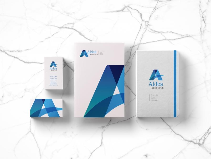 Branding: Rediseño de logotipo, papelería corporativa y Web. Aldea Asesores.