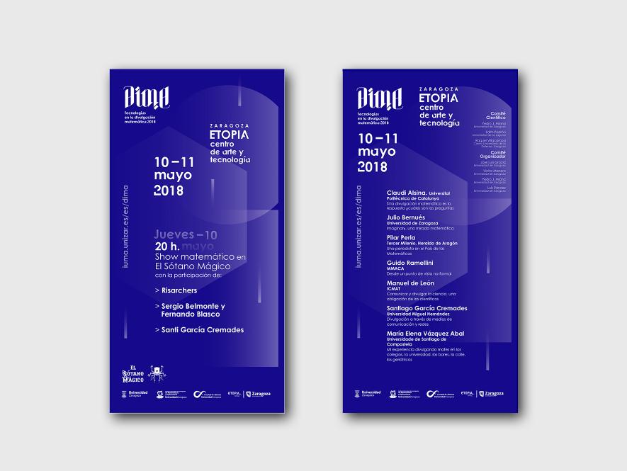 Diseño de Imagen y soportes para Congreso DIMA. Tecnologías en la divulgación MATEMÁTICA