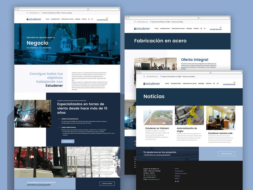 Rediseño de logotipo, Web y Audiovisual. Estudener.
